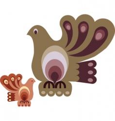 vintage bird designs vector image