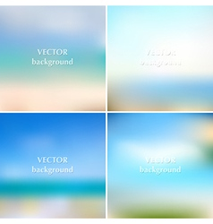 Abstract blue sea summer blurred backgrounds vector