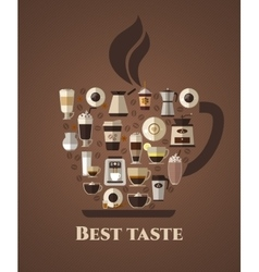 Coffee best taste poster vector