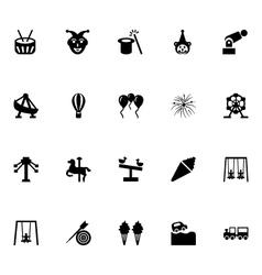 Amusement park icons 4 vector