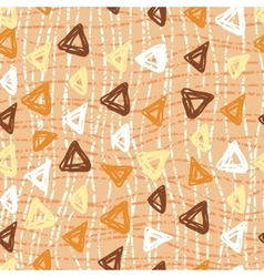 Hand drawn triangle pattern on a coloured vector