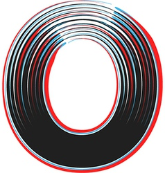 Abstract font letter o vector