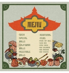 Asian food menu vector