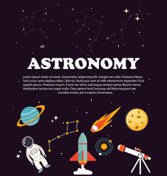 Astronomy study education and science layout vector