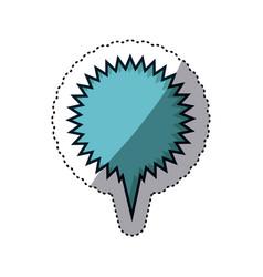 Blue sticker circular callout scream for dialogue vector