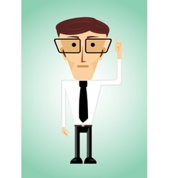 businessman poiting index finger up vector image