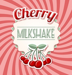 Cherry milkshake vector