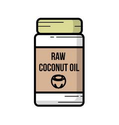 Coconut oil icon hand-drawn icon of coconut oil vector