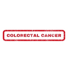 Colorectal cancer rubber stamp vector