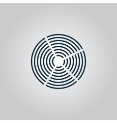 Crop circle icon vector