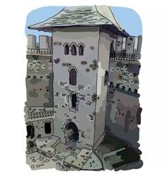 Digital painted Soroca Castle vector image