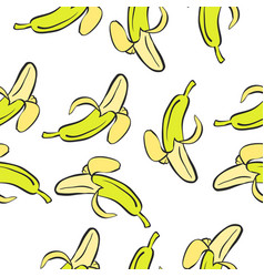 Doodle of banana fruit collection vector