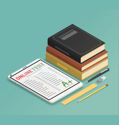 Elearning isometric design concept vector