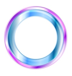 Elegant shiny circle logo vector image