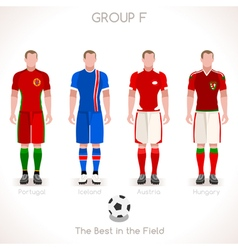 Euro 2016 group f championship vector