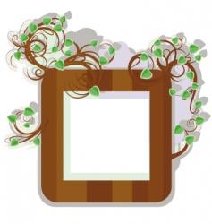 first leaflets frame vector image vector image