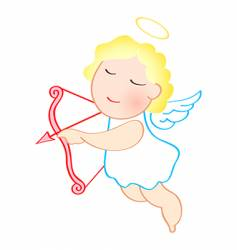 love angel vector image
