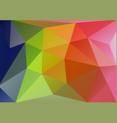 low polygonal triangle background vector image vector image