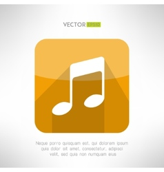 Music note icon in modern flat design Radio vector image vector image