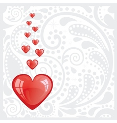 Postcard with the heart vector