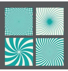 Retro vintage hypnotic background set vector