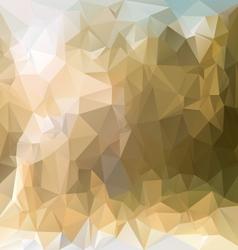 Sand beige polygonal triangular pattern background vector