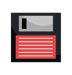 Save button or diskette symbol design vector image