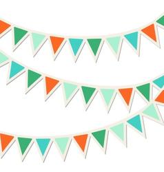 Set of multicolored flat buntings garlands vector image