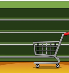 Shelves in a supermarket eps10 equipment flat vector image vector image