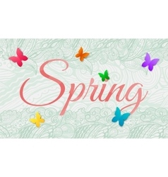 Spring background with butterfly vector image vector image