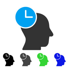 Time thinking flat icon vector