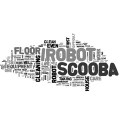 Why buy an irobot scooba text word cloud concept vector
