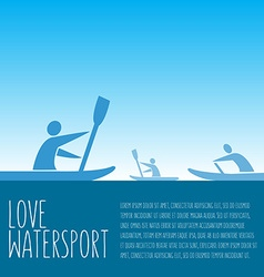 With signature love watersport text and p vector