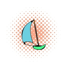 Yacht icon comics style vector image vector image