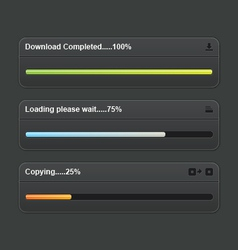 Download progress bar vector image
