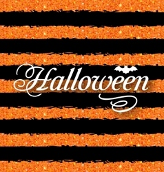 Happy Halloween Poster Light Holiday Background vector image