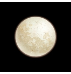 Full moon on black background vector image