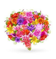 flower bubble vector image