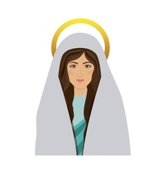 Half body picture colorful saint virgin mary vector