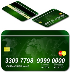 Bank credit shop map credit master payment purchas vector