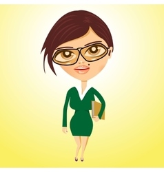 Business woman with beauty spot vector
