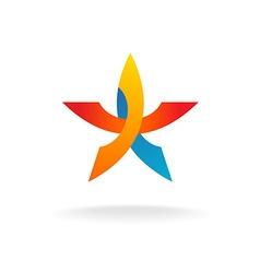 Colorful star logo vector