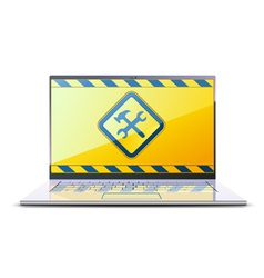 Modern laptop vector