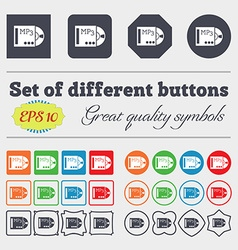 Mp3 player icon sign big set of colorful diverse vector