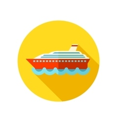 Cruise transatlantic liner ship flat icon vector