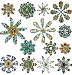 Set of color ethnic patterns vector image