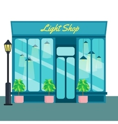Light shop and store front icon flat style vector
