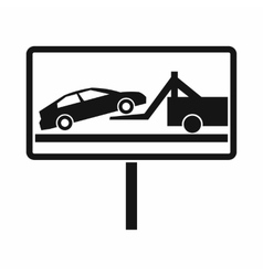 No parking sign icon simple style vector