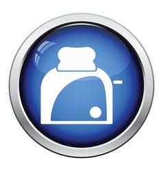 Kitchen toaster icon vector