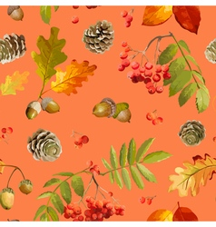 Autumn Leaves Background - Seamless Pattern vector image vector image